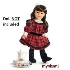 American Girl Samantha's HOLIDAY OUTFIT DRESS and TEATIME tea set doll NOT incl