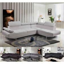 Divano angolare soggiorno sofà destro o sinistro ecopelle microfibra salotto A7