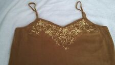 Ladies Gold Embroidered Strappy Dress by Together Size 14