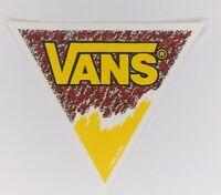 NOS Vintage Vans Logo Skateboard Sticker BMX Surf Original 1990's Red Triangle