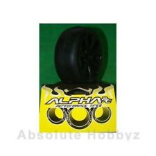 Alpha RC Mounted Slick Tires 1/8 Rally Game Qual Y3 Compound Black Wheel (Soft)