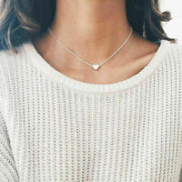 Schmuck Anhänger 925 Silber Gold GF Herz Choker Chunky Kette Bib Halskette