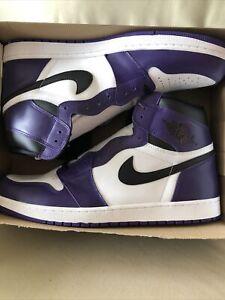 Nike Air Jordan 1 Retro High OG Court Purple White Size 18 555088-500 Athletic