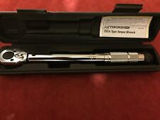 "NEW PITTSBURGH 1/4"" DRIVE CLICK STOP TORQUE WRENCH"