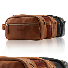 Londo Genuine Leather Travel Toiletry, Makeup, Dopp Kit, Shaving Organizer Bag