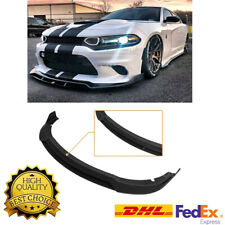 For 15-Up Dodge Charger SRT Track Style 4PCs Front Bumper Lower Lip Splitters