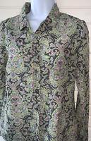 "J. CREW Sz SMALL Silk Cotton Paisley Print Button ""The Perfect Shirt"" 42804 EUC"