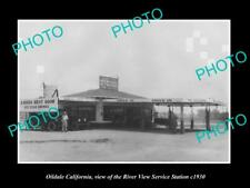 OLD POSTCARD SIZE PHOTO OF OILDALE CALIFORNIA RIVER VIEW SERVICE STATION c1930