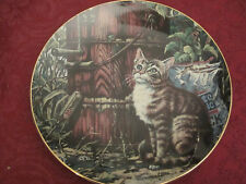 SUNDAY AFTERNOON Collector Plate LOWELL DAVIS Schmid RARE Friends of Mine CATS