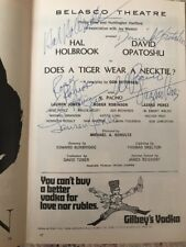 """Al Pacino """"Full Name Signature"""" & Cast Signed Does A Tiger Playbill. Mar 1969"""