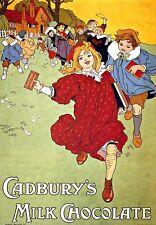 Cadburys  Milk Chocolate advertising ad  Poster Print