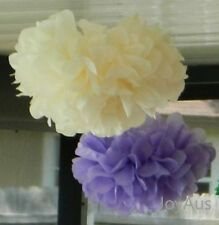 18x mix lilac cream paper pom poms birthday  wedding babyshower party decoration