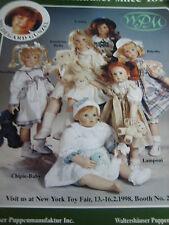 Hildegard Gunzel Doll Ad /Lanina/Binella/Piccolina/Chipie/Lamponi/Bambina Bella