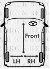 BKB2834 BORG & BECK BRAKE CABLE- LH REAR fits Mercedes S Class 220 99>