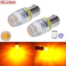 2 x 6V LED Car Lights BAX9S H6W Amber Auto Indicator Side Wedge Parker Bulb Lamp