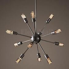 Sputnik Vintage Industrial Chandelier Loft Ceiling Pendant 12 Light Lamp Fixture