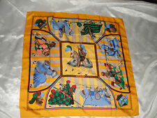 Orange Yellow Hermes Chocs En Plumes Hand Rolled Silk Shawl Scarf France 35""