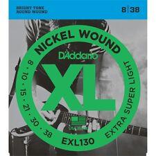 set 6 corde D'ADDARIO EXL130 Nickel Wound Electric Guitar Strings, Extra-Super