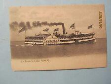 Vintage Steamer A Wehrle en Route to Cedar Point, O Postcard CW Platt Germany