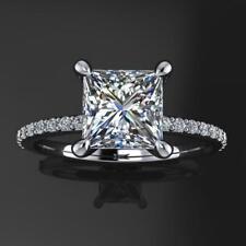 1.75CT Princess Cut NEO Moissanite Engagement & Anniversary Halo Women's Ring