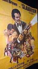 SLAUGHTER massacre ! blaxploitation jim brown   rare affiche cinema 1972
