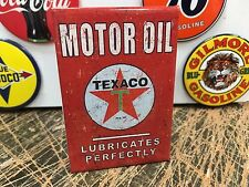 classic TEXACO MOTOR OIL lubricated PERFECTLY  full backed refrigerator MAGNET