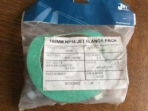 Jet Range 8 x Nut Bolt Washer Quantity 100MM NP16 Jet Flange Pack