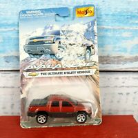 Chevy Avalanche The Ultimate Utility Vehicle By Maisto Red Color USA Seller