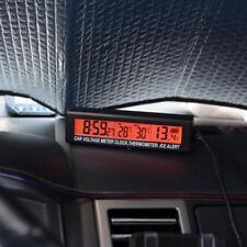 12/24V Auto KFZ LED Digital Uhr Thermometer In Außentemperatur Spannungsmesser