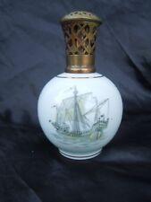 Lampe berger porcelaine Limoges Charles Ahrenfeldt decor bateau Jonque