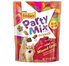 Purina Friskies Cat Treats Party Mix Crunchies Mixed Grill Pet Classic