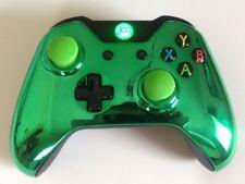 XBOX ONE 1 Custom sans fil manette (chromé vert) bombé STICKS ANALOGIQUES