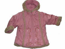 Pampolina tolle warme Jacke / Mantel Gr. 92 rosa mit Stickereien !!