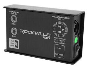 Rockville RDI5 DI Box Converts Guitar/Instrument Signal to Balanced Line Level