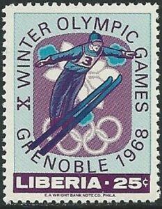 LIBERIA -1967- Ski Jump - Winter Olympic Games 1968 - Grenoble - MNH - Sc.#474