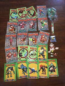 Donkey Kong Country LOT Journal Plush Stickers Super Nintendo Figures Japan Rare
