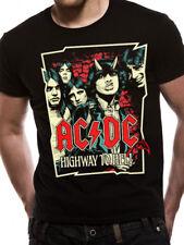 AC/DC camino al infierno banda alta dibujos animados para hombre Camiseta Talle M