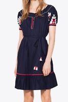 NWT Tory Burch Alicia Dress, SZ 6 , Navy Sea # 38321
