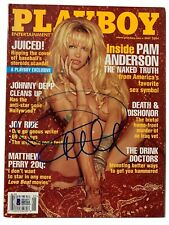 Pamela Anderson Signed Playboy Magazine May 2004 Beckett BAS Witnessed Auto