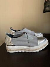 womens shoes New WBox. Italian,gray/silver size 9.5 Eur 40
