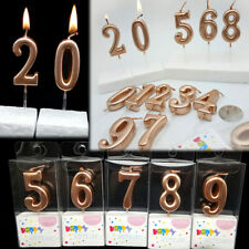 Happy Birthday Cake Topper Rose Gold Number Candles Birthday Cake Decoration