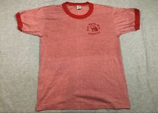 Vintage Anco 50/50 Red Ringer T-Shirt Great Smokey Mtns Cherokee NC made in USA