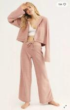NEW $398 Free People ONE Queenie Set Size L - Pants & Hoodie Sweatshirt Jacket