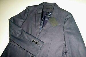 john varvatos USA mens navy blue two button sports coat blazer suit jacket - 42R