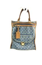 Louis Vuitton Bag Borsa Sac Flat Shopper Denim Jeans Blue Usata Buone Condizioni