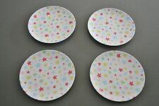 Set of 4 Cath Kidston Star Plates Vintage design in vgc