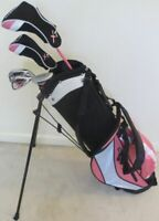 NEW RH Girls Jr Golf Club Set Stand Bag for Kids Children Junior Ages 8-12 Pink