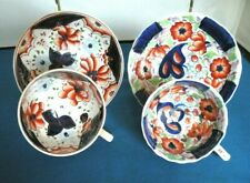 2 GAUDY WELSH CUPS & SAUCERS DRAPE & NASTURTIUM  PATTERNS