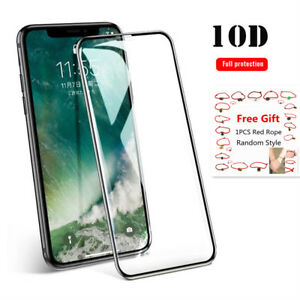 Full Cover Curved Tempered Glass Screen Protector For iPhone 12 11 XS X SE 7 8 6