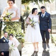 Boat Neck Plus Size Half Sleeve Wedding Dresses